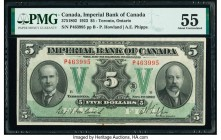 Canada Toronto, ON- Imperial Bank of Canada $5 1.11.1923 Ch.# 375-18-02 PMG About Uncirculated 55. A Howard-Phipps signature issue, this note holds th...