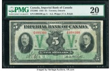 Canada Toronto, ON- Imperial Bank of Canada $5 1.11.1933 Ch.# 375-20-02 PMG Very Fine 20. Unique guilloche designs create a pleasing visual on this Ph...