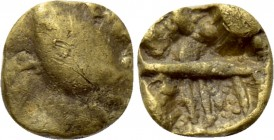 "CENTRAL EUROPE. Boii. GOLD 1/24 Stater (1st centuries BC). ""Athena Alkis"" type."