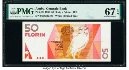 Aruba Centrale Bank 50 Florin 1990 Pick 9 PMG Superb Gem Unc 67 EPQ.   HID09801242017  © 2020 Heritage Auctions | All Rights Reserve