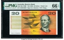 Australia Australia Reserve Bank 20 Dollars ND (1985) Pick 46e R409 PMG Gem Uncirculated 66 EPQ.   HID09801242017  © 2020 Heritage Auctions | All Righ...