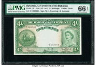 Bahamas Bahamas Government 4 Shillings 1936 (ND 1954) Pick 13b PMG Gem Uncirculated 66 EPQ.   HID09801242017  © 2020 Heritage Auctions | All Rights Re...