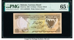 Bahrain Currency Board 1/4 Dinar 1964 Pick 2a PMG Gem Uncirculated 65 EPQ.   HID09801242017  © 2020 Heritage Auctions | All Rights Reserve