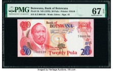 Botswana Bank of Botswana 20 Pula ND (1979) Pick 5b PMG Superb Gem Unc 67 EPQ.   HID09801242017  © 2020 Heritage Auctions | All Rights Reserve