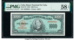 Cuba Banco Nacional de Cuba 1000 Pesos 1950 Pick 84 PMG Choice About Unc 58 EPQ.   HID09801242017  © 2020 Heritage Auctions | All Rights Reserve