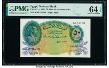 Egypt National Bank of Egypt 50 Piastres 17.5.1951 Pick 21e PMG Choice Uncirculated 64 EPQ.   HID09801242017  © 2020 Heritage Auctions | All Rights Re...