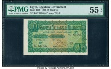 Egypt Egyptian Government 10 Piastres 27.5.1917 Pick 160b PMG About Uncirculated 55 EPQ.   HID09801242017  © 2020 Heritage Auctions | All Rights Reser...
