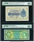 Falkland Islands Government of the Falkland Islands 1 Pound 1974 Pick 8b PMG Choice Uncirculated 64 EPQ; British Honduras Government of British Hondur...