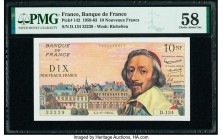 France Banque de France 10 Nouveaux Francs 4.11.1960 Pick 142 PMG Choice About Unc 58.   HID09801242017  © 2020 Heritage Auctions | All Rights Reserve...