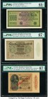 Germany Republic Treasury Note 1000; 500,000 Mark; 1 Milliadre Mark on 1000 Mark 15.9.1922; 1.5.1923; 15.12.1922 Pick 76d; 88b; 113b Three Examples PM...