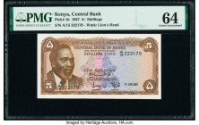 Kenya Central Bank of Kenya 5 Shillings 1.7.1967 Pick 1b PMG Choice Uncirculated 64.   HID09801242017  © 2020 Heritage Auctions | All Rights Reserve