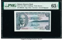 Malawi Reserve Bank of Malawi 5 Shillings 1964 Pick 1Aa PMG Gem Uncirculated 65 EPQ.   HID09801242017  © 2020 Heritage Auctions | All Rights Reserve