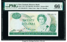 New Zealand Reserve Bank of New Zealand 20 Dollars ND (1985-89) Pick 173b PMG Gem Uncirculated 66 EPQ.   HID09801242017  © 2020 Heritage Auctions | Al...