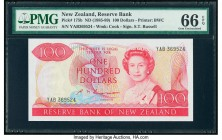 New Zealand Reserve Bank of New Zealand 100 Dollars ND (1985-89) Pick 175b PMG Gem Uncirculated 66 EPQ.   HID09801242017  © 2020 Heritage Auctions | A...