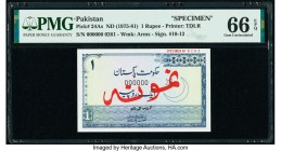 Pakistan Government of Pakistan 1 Rupee ND (1975-81) Pick 24As Specimen PMG Gem Uncirculated 66 EPQ.   HID09801242017  © 2020 Heritage Auctions | All ...
