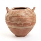 Italo-Geometric Olla, 8th - 7th century BC; height cm 20,4, diam. cm 12,5. Restored. Provenance: English private collection, acquired by the current o...