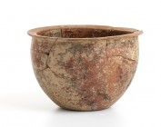 Big Etruscan Bowl, 6th century BC; height cm 14,5, diam. cm 20. Restored. Provenance: English private collection, bought before 2000s.