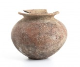 Etruscan Olla, 6th century BC; height cm 17, diam. cm 15. Restored. Provenance: English private collection, bought before 2000s.