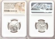 MACEDONIAN KINGDOM. Alexander III the Great (336-323 BC). AR tetradrachm (25mm, 17.10 gm, 2h). NGC MS 4/5 - 2/5. Early posthumous issue of Susa, ca. 3...