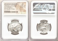 MACEDONIAN KINGDOM. Alexander III the Great (336-323 BC). AR tetradrachm (27mm, 17.13 gm, 12h). NGC AU 4/5 - 3/5. Late lifetime-early posthumous issue...