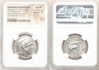 MACEDONIAN KINGDOM. Alexander III the Great (336-323 BC). AR tetradrachm (27mm, 17.22 gm, 12h). NGC Choice XF 5/5 - 4/5. Posthumous issue of Amphipoli...