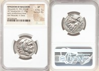 MACEDONIAN KINGDOM. Alexander III the Great (336-323 BC). AR tetradrachm (26mm, 17.16 gm, 7h). NGC XF 5/5 - 4/5. Posthumous issue of Amphipolis, under...