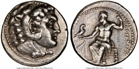 MACEDONIAN KINGDOM. Alexander III the Great (336-323 BC). AR tetradrachm (26mm, 12h). NGC XF. Lifetime issue of Salamis, 332-323 BC. Head of Heracles ...