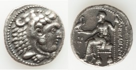 MACEDONIAN KINGDOM. Alexander III the Great (336-323 BC). AR tetradrachm (25mm, 16.58 gm, 6h). Choice VF. Early posthumous issue of Tyre, dated Regnal...