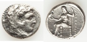 MACEDONIAN KINGDOM. Alexander III the Great (336-323 BC). AR tetradrachm (24mm, 16.86 gm, 1h). VF. Early posthumous issue of 'Babylon', ca. 323-317 BC...