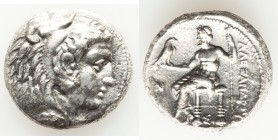 MACEDONIAN KINGDOM. Alexander III the Great (336-323 BC). AR tetradrachm (26mm, 16.17 gm, 12h). AU, porosity. Early posthumous issue of Sidon, dated C...