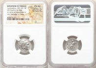 THRACIAN KINGDOM. Lysimachus (305-281 BC). AR drachm (17mm, 4.39 gm, 12h). NGC Choice AU, 5/5 - 4/5. Posthumous issue of 'Colophon' in the name and ty...