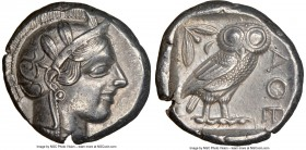 ATTICA. Athens. Ca. 440-404 BC. AR tetradrachm (24mm, 17.12 gm, 10h). NGC AU S 5/5 - 5/5. Mid-mass coinage issue. Head of Athena right, wearing creste...