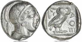 ATTICA. Athens. Ca. 440-404 BC. AR tetradrachm (24mm, 17.18 gm, 5h). Choice VF, mark. Mid-mass coinage issue. Head of Athena right, wearing crested At...