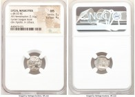 LYCIAN LEAGUE. Masicytes. Ca. 48-20 BC. AR hemidrachm (14mm, 2.16 gm, 12h). NGC MS 5/5 - 4/5. Series 1. Laureate head of Apollo right; Λ-Y below / M-A...