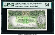 Australia Commonwealth Bank of Australia 1 Pound ND (1961-65) Pick 34a R34 PMG Choice Uncirculated 64.   HID09801242017  © 2020 Heritage Auctions | Al...