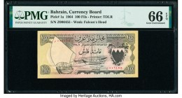 Bahrain Currency Board 100 Fils 1964 Pick 1a PMG Gem Uncirculated 66 EPQ.   HID09801242017  © 2020 Heritage Auctions | All Rights Reserve