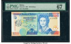 Belize Central Bank 100 Dollars 1.6.1997 Pick 65 PMG Superb Gem Unc 67 EPQ.   HID09801242017  © 2020 Heritage Auctions | All Rights Reserve