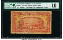 Bermuda Bermuda Government 10 Shillings 30.9.1927 Pick 4 PMG Very Good 10.   HID09801242017  © 2020 Heritage Auctions | All Rights Reserve