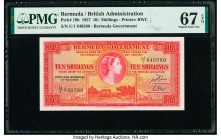 Bermuda Bermuda Government 10 Shillings 1.5.1957 Pick 19b PMG Superb Gem Unc 67 EPQ.   HID09801242017  © 2020 Heritage Auctions | All Rights Reserve