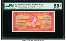 Bermuda Bermuda Government 10 Shillings 1.5.1957 Pick 19b PMG About Uncirculated 55 EPQ.   HID09801242017  © 2020 Heritage Auctions | All Rights Reser...