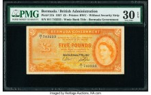 Bermuda Bermuda Government 5 Pounds 1.5.1957 Pick 21b PMG Very Fine 30 EPQ.   HID09801242017  © 2020 Heritage Auctions | All Rights Reserve