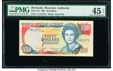 Bermuda Monetary Authority 50 Dollars 26.6.1997 Pick 48 PMG Choice Extremely Fine 45 EPQ.   HID09801242017  © 2020 Heritage Auctions | All Rights Rese...