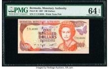 Bermuda Monetary Authority 100 Dollars 30.6.1997 Pick 49 PMG Choice Uncirculated 64 EPQ.   HID09801242017  © 2020 Heritage Auctions | All Rights Reser...
