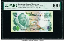 Botswana Bank of Botswana 10 Pula ND (1976) Pick 4b PMG Gem Uncirculated 66 EPQ. Serial number 142.  HID09801242017  © 2020 Heritage Auctions | All Ri...