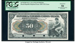 Brazil Thesouro Nacional 50 Mil Reis ND (1912) Pick 54 Front Proof PCGS About New 50. Three POCs.  HID09801242017  © 2020 Heritage Auctions | All Righ...
