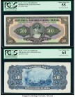 Brazil Caixa de Estabilizacao 500 Mil Reis ND (1926) Pick 108p Front and Proofs PCGS Choice About New 55; Very Choice New 64. POCs are present.  HID09...
