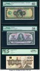American Bank Note Company Specimen Test Note PMG Gem Uncirculated 65 EPQ; Canada Bank of Canada 10 Units; $10; $100 1929; 2.1.1937; 1988 BC-24c; BC-6...