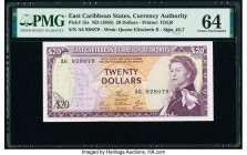 East Caribbean States Currency Authority 20 Dollars ND (1965) Pick 15e PMG Choice Uncirculated 64.   HID09801242017  © 2020 Heritage Auctions | All Ri...