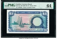 Gambia The Gambia Currency Board 5 Pounds ND (1965-70) Pick 3a PMG Choice Uncirculated 64.   HID09801242017  © 2020 Heritage Auctions | All Rights Res...
