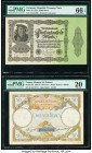 Germany Imperial Bank Note 50,000 Mark 19.11.1922 Pick 79 PMG Gem Uncirculated 66 EPQ; France Banque de France 50 Francs 12.10.1933 Pick 80b PMG Very ...
